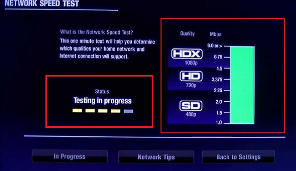 Test the network Connection Speed to ensure better Streaming Experience