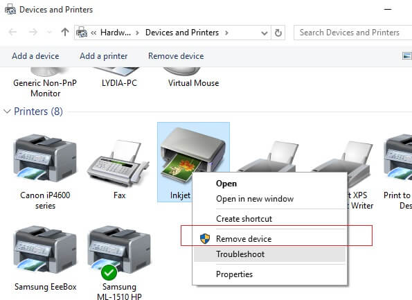 Remove Epson Printer Drivers