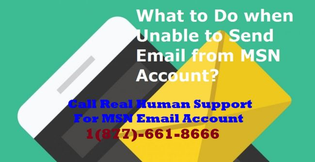 Unable to send email from MSN account